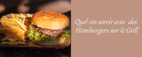 Hamburger sur le grill