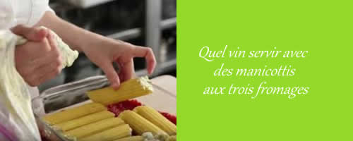Manicotti aux fromages